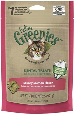 Greenies Feline Dental Treats - Savory Salmon Flavor alternate img #1