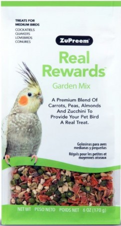 ZuPreem Real Rewards Garden Mix Treats for Medium Birds alternate img #1