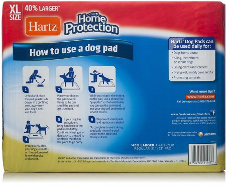 Hartz Home Protection Unscented Dog Pads Extra Large alternate img #3