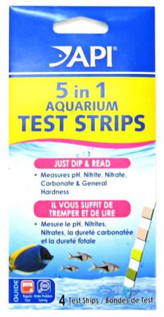 API 5 in 1 Aquarium Test Strips alternate img #1
