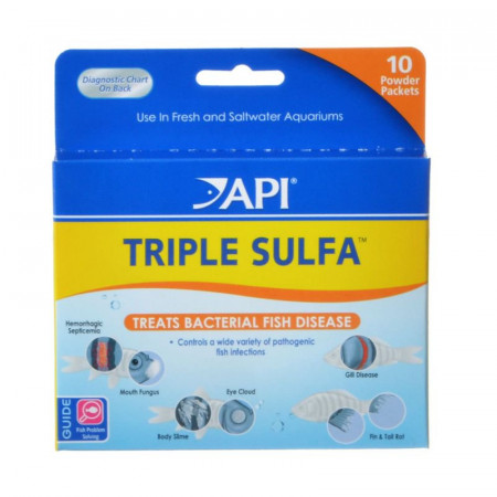 API Triple Sulfa Bacterial Fish Disease Treatment alternate img #1
