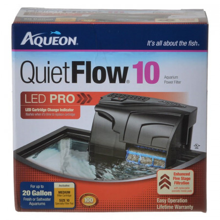 Aqueon QuietFlow LED Pro Aquarium Power Filter alternate img #1