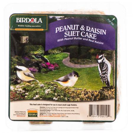Birdola Peanut Butter & Raisin Suet Cake for Wild Birds alternate img #1