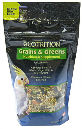 Ecotrition Grains & Greens Nutritional Supplement for Cockatiels alternate img #1
