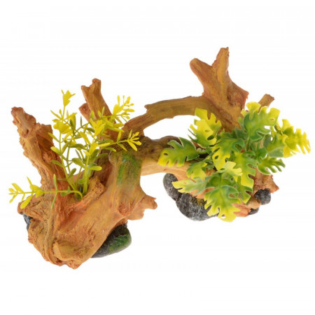 Blue Ribbon Exotic Environments Driftwood Centerpiece with Plants - Small alternate img #1
