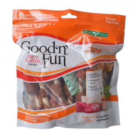 Healthy Hide Good'n' Fun Triple-Flavor Kabobs - Chicken, Duck & Chicken Liver alternate img #1