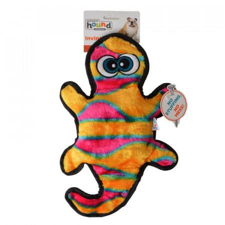 Outward Hound Invincibles Gecko Squeak Toy - Orange & Yellow alternate img #1