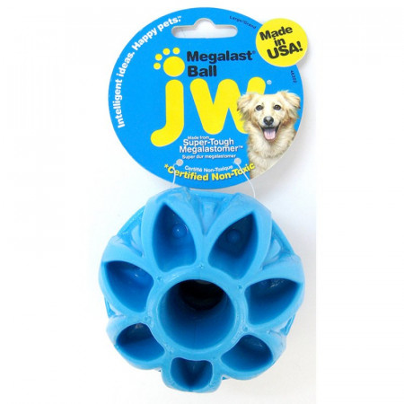 JW Pet Megalast Rubber Ball Toy Assorted Colors alternate img #1