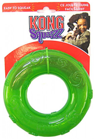 KONG Squeezz Ring Dog Toy alternate img #1