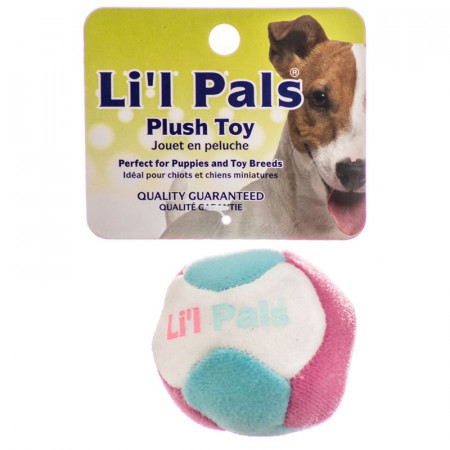 Lil Pals Multi Colored Plush Ball with Bell for Dogs alternate img #1