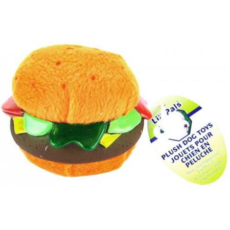 Lil Pals Plush Hamburger Dog Toy alternate img #1