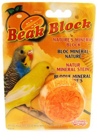 Living World Beak Block with Minerals - Orange alternate img #1