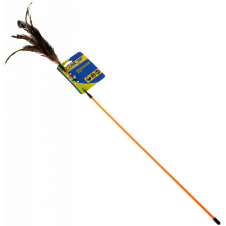 Petsport Kitty Feather Wand - Assorted Colors alternate img #1