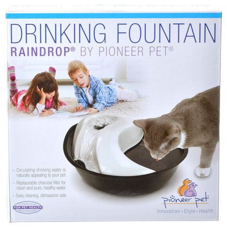 Pioneer Pet Raindrop Plastic Drinking Fountain alternate img #1