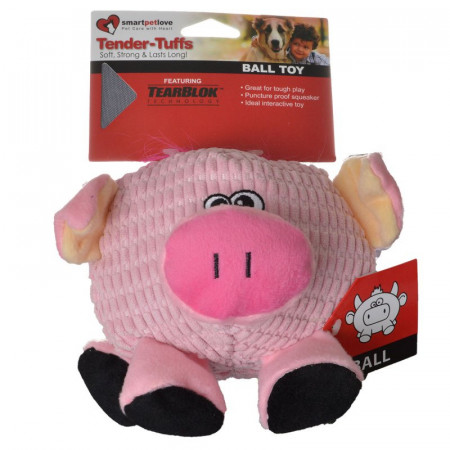 Smart Pet Love Round Pink Pig Dog Toy alternate img #1