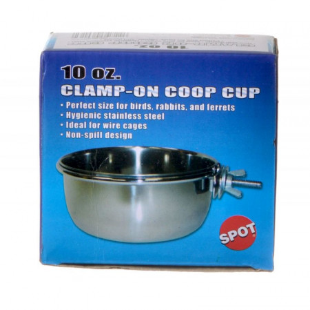 Spot Clamp On Coop Cup Stainless Steel alternate img #1