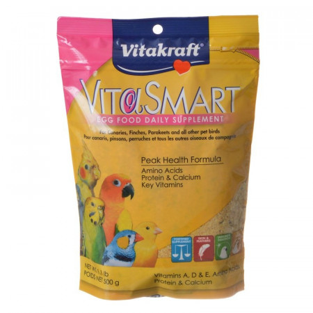 Vitakraft VitaSmart Egg Food Daily Supplement for Birds Peak Health Formula alternate img #1