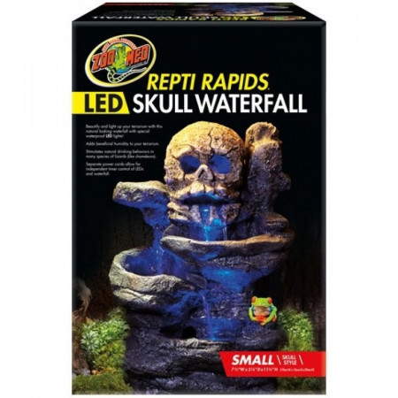 Zoo Med Repti Rapids LED Skull Waterfall alternate img #1