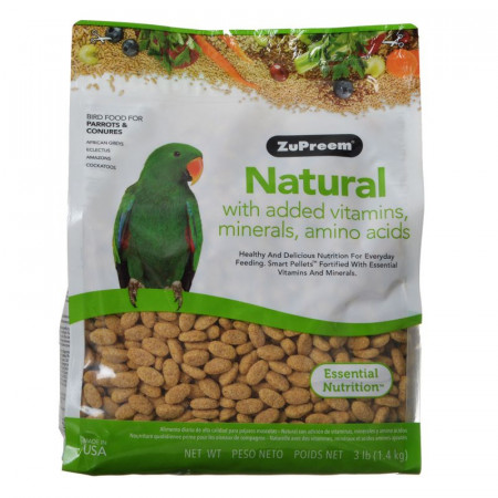 ZuPreem Natural Bird Food for Parrots & Conures alternate img #1