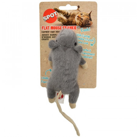 Spot Flat Mouse Frankie Catnip Toy Assorted Colors alternate img #1