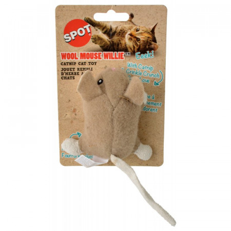 Spot Wool Mouse Willie Catnip Toy - Assorted Colors alternate img #1