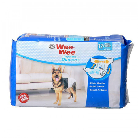 Four Paws Wee Wee Disposable Diapers - Large alternate img #1