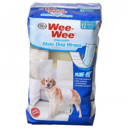 Four Paws Wee Wee Disposable Male Dog Wraps - Medium/Large alternate img #1