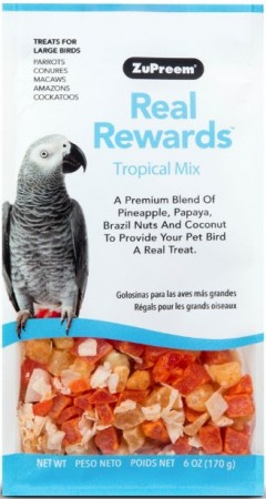 ZuPreem Real Rewards Tropical Mix Treast for Large Birds alternate img #1
