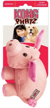 KONG Phatz Dog Toy Pig alternate img #1