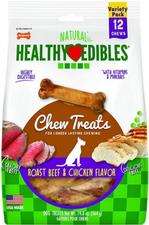 Nylabone Healthy Edibles Variety Pack - Roast Beef & Chicken - Regular alternate img #1