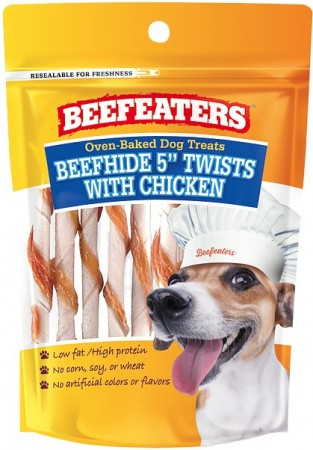 Beafeaters Oven Baked Beefhide and Chicken Twists Dog Treat alternate img #1