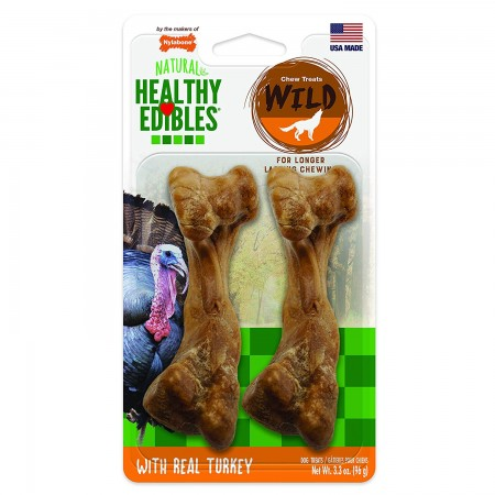 Nylabone Healthy Edibles Wild Chew with Real Turkey - Medium alternate img #1
