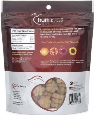 Fruitables Crispy Bacon & Apple Flavor Crunchy Dog Treats alternate img #2