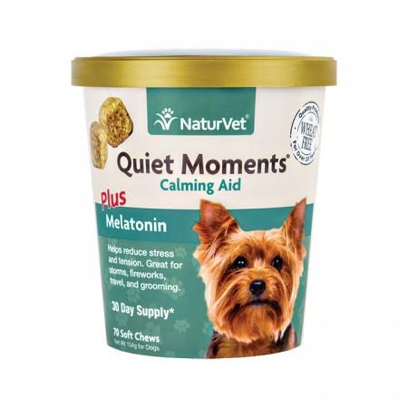 NaturVet Quiet Moments Calming Aid plus Melatonin Dog Chews alternate img #2