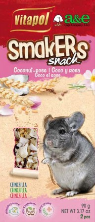 A&E Cage Company Smakers Coconut-Rose Sticks for Chinchillas alternate img #1