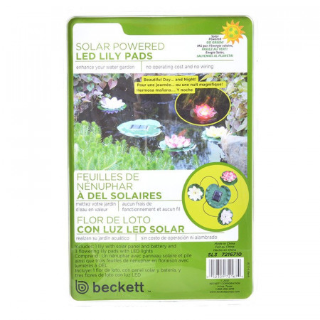 Beckett Solar LED Lily Lights for Ponds alternate img #1