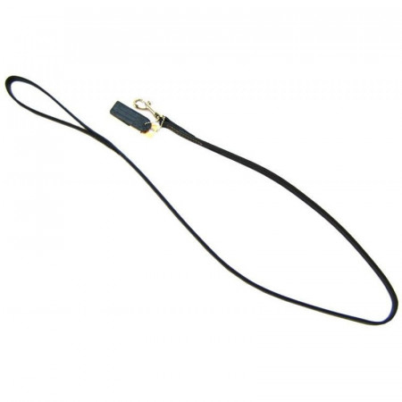 Circle T Black Leather Lead - 4' Long alternate img #1