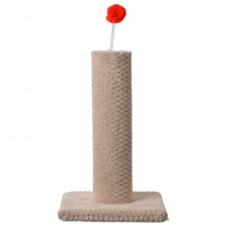 North American Classy Kitty Carpeted Cat Post with Spring Toy alternate img #1