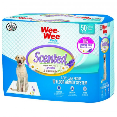 Four Paws Scented Wee Wee Pads - Lavender & Chamomille alternate img #1
