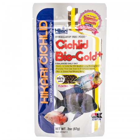 Hikari Cichlid Bio Gold+ Floating Mini Pellet Food alternate img #1