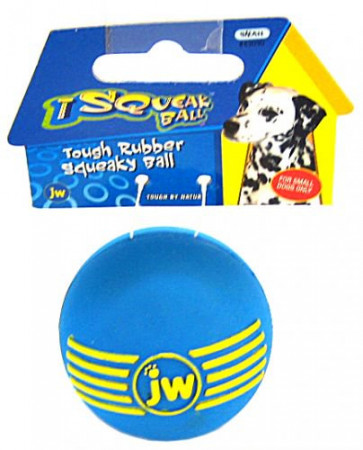 JW Pet iSqueak Ball Rubber Dog Toy - Assorted Colors alternate img #1