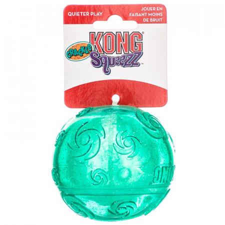 KONG Squeezz Crackle Ball Dog Toy alternate img #1