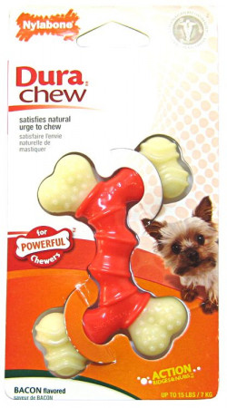 Nylabone Dura Chew Double Bone - Bacon Flavor alternate img #1