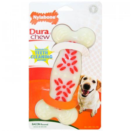 Nylabone Dura Chew Teeth Cleaning Bone - Bacon Flavor alternate img #1