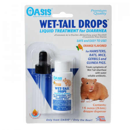 Oasis Wet-Tail Drops Liquid Treatment for Diarrhea in Small Pets alternate img #1