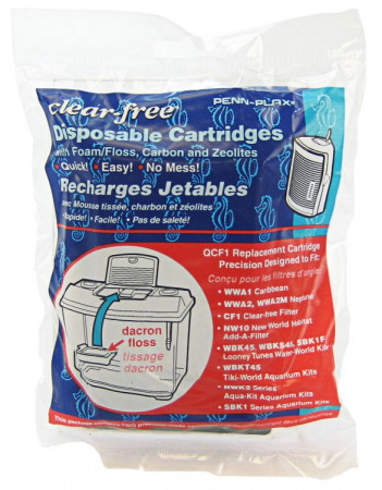 Penn Plax Clear-Free Disposable Cartridges for Aquarium Filters alternate img #1