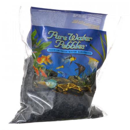 Pure Water Pebbles Aquarium Gravel - Jet Black alternate img #1