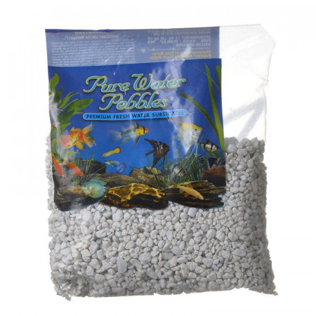 Pure Water Pebbles Aquarium Gravel Snow White alternate img #1