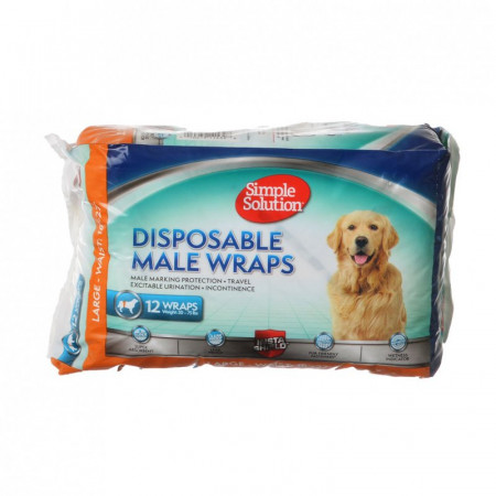 Simple Solution Disposable Male Wraps - Large alternate img #1