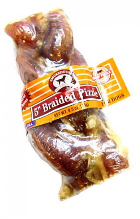 Smokehouse Braided Pizzle for Dogs - Small alternate img #1
